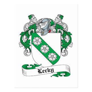 Escudo de la familia de Lecky Tarjetas Postales