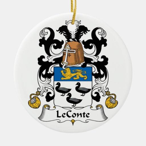 Escudo de la familia de LeConte Ornaments Para Arbol De Navidad