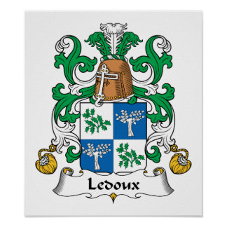 Escudo de la familia de Ledoux Impresiones
