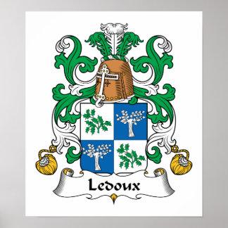 Escudo de la familia de Ledoux Póster
