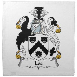 Escudo de la familia de Lee Servilletas