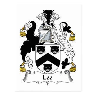 Escudo de la familia de Lee Tarjeta Postal