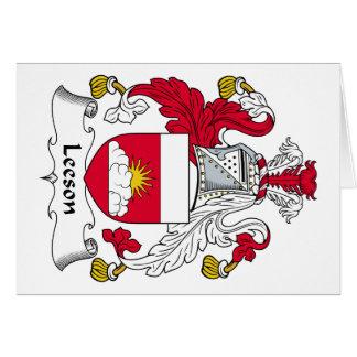 Escudo de la familia de Leeson Tarjeta De Felicitación