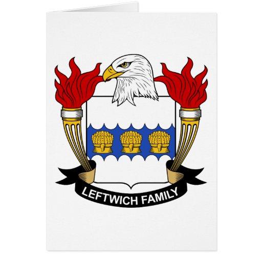 Escudo de la familia de Leftwich Tarjeta De Felicitación