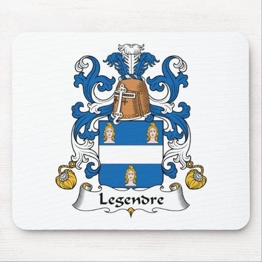 Escudo de la familia de Legendre Alfombrilla De Ratones