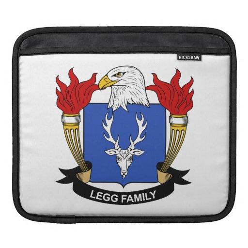 Escudo de la familia de Legg Funda Para iPads