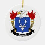 Escudo de la familia de Legg Ornamente De Reyes