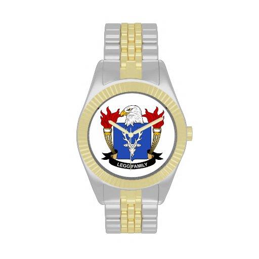 Escudo de la familia de Legg Reloj De Mano