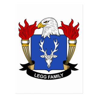 Escudo de la familia de Legg Postales