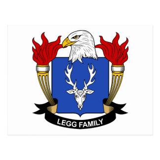 Escudo de la familia de Legg Tarjetas Postales