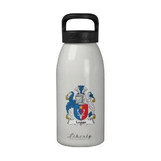 Escudo de la familia de Legge Botella De Agua