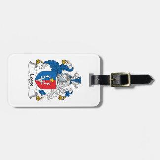 Escudo de la familia de Legge Etiquetas Bolsa