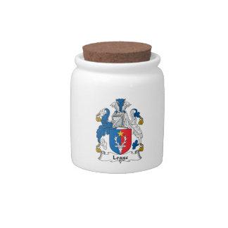 Escudo de la familia de Legge Plato Para Caramelo
