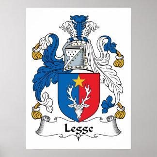 Escudo de la familia de Legge Posters
