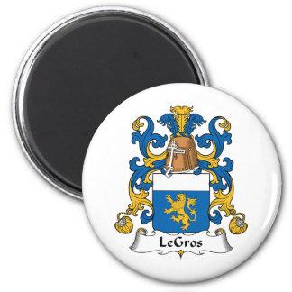 Escudo de la familia de LeGros Imanes Para Frigoríficos