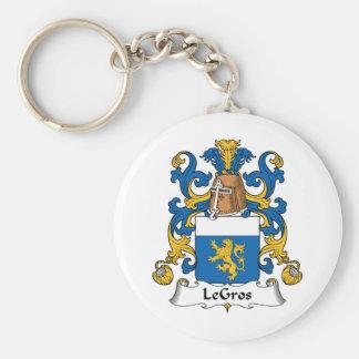 Escudo de la familia de LeGros Llavero Personalizado