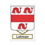 Escudo de la familia de Lehman Impresión De Lienzo
