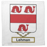 Escudo de la familia de Lehman Servilleta