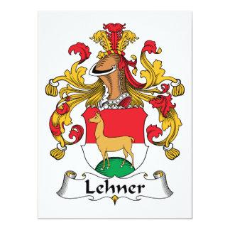 Escudo de la familia de Lehner Invitación 16,5 X 22,2 Cm