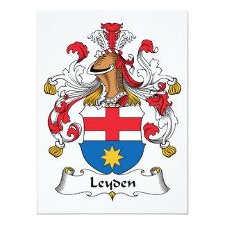 Escudo de la familia de Leiden Invitación 16,5 X 22,2 Cm