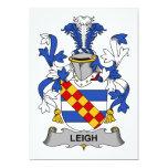 Escudo de la familia de Leigh Comunicado