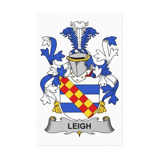 Escudo de la familia de Leigh Impresión De Lienzo