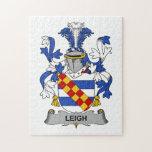 Escudo de la familia de Leigh Puzzles