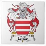 Escudo de la familia de Leitao Azulejo Ceramica