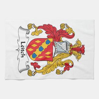 Escudo de la familia de Leitch Toallas De Mano