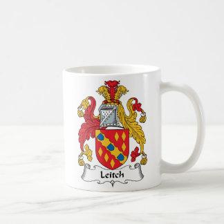 Escudo de la familia de Leitch Tazas De Café