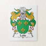 Escudo de la familia de Leite Puzzles Con Fotos