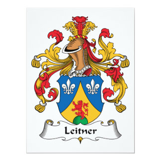Escudo de la familia de Leitner Invitación 16,5 X 22,2 Cm