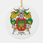 Escudo de la familia de Leiva Ornamento Para Arbol De Navidad
