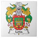 Escudo de la familia de Leiva Teja Cerámica