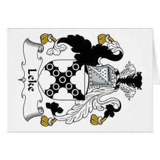 Escudo de la familia de Leke Tarjeta De Felicitación