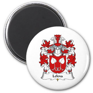 Escudo de la familia de Lekna Imán Redondo 5 Cm
