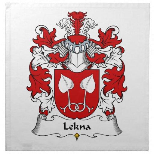 Escudo de la familia de Lekna Servilletas Imprimidas