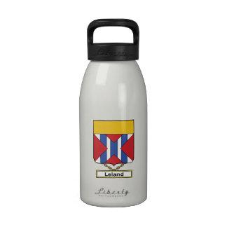 Escudo de la familia de Leland Botella De Agua