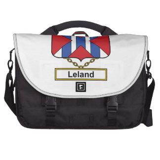 Escudo de la familia de Leland Bolsa Para Ordenador