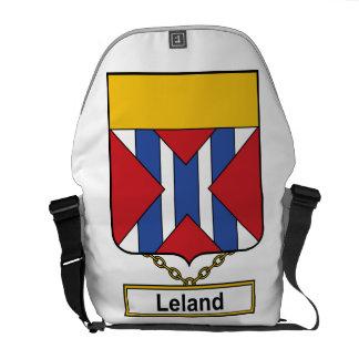 Escudo de la familia de Leland Bolsa De Mensajería