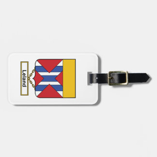 Escudo de la familia de Leland Etiquetas Bolsas