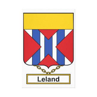 Escudo de la familia de Leland Impresión En Lona