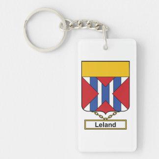 Escudo de la familia de Leland Llaveros