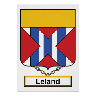 Escudo de la familia de Leland Posters