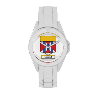 Escudo de la familia de Leland Reloj
