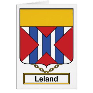 Escudo de la familia de Leland Tarjeta