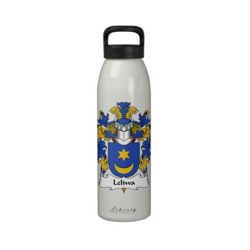 Escudo de la familia de Leliwa Botellas De Agua Reutilizables