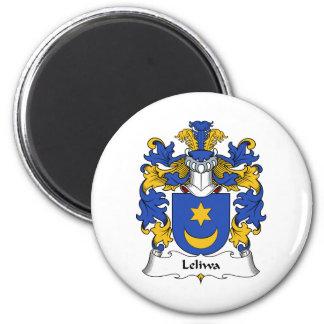 Escudo de la familia de Leliwa Imán Redondo 5 Cm