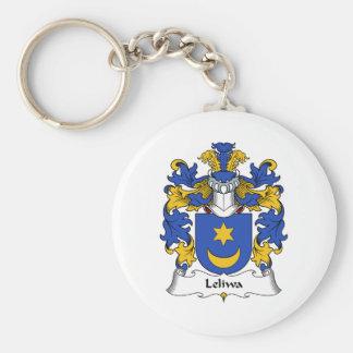 Escudo de la familia de Leliwa Llavero Redondo Tipo Pin
