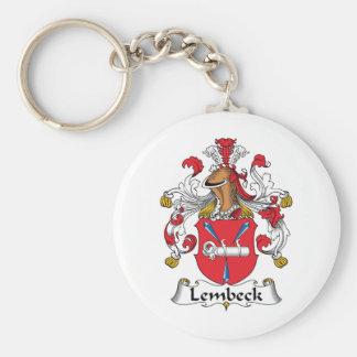 Escudo de la familia de Lembeck Llavero Redondo Tipo Pin